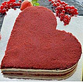 Romantic Velvet Cake: Send Cakes for Anniversary