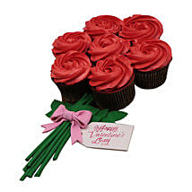 Set Of 7 Flower Cupcakes: Valentine's Day Cake Delivery in Dubai
