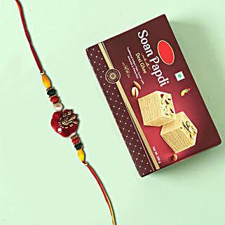 Sweet Soan Papdi and Designer Rakhi Combo: All Rakhi UAE