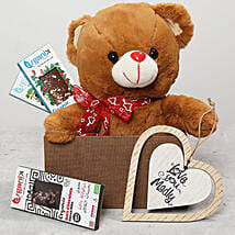 Teddy Bear and Love Wall Hanging Gift Box: Thanksgiving Gifts to UAE