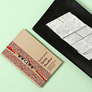Yummy Kaju Katli and Designer Rakhi Combo: All Rakhi UAE