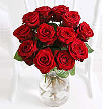 A Dozen Luxury Red Roses: Bouquets for Anniversary
