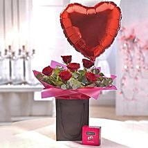 Be Mine Chocolate and Balloon Gift Set: Send Flowers to UK