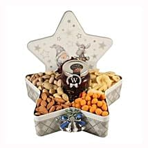 Christmas Star with Nuts: Christmas Gift Hampers to UK