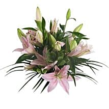 Lush Lillies in Pink: Mother's Day Bouquets to UK