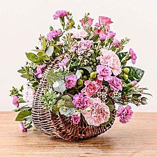 Pink Basket Arrangement: Flower Delivery UK