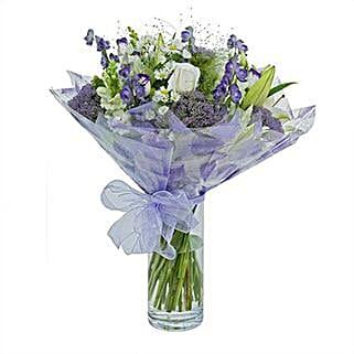 Purple Haze Arrangement: Sympathy & Funeral Flowers to UK