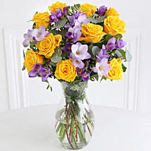 Rose n Freesia Bouquet: Gifts to Chicester