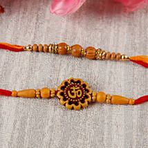 Sandalwoond Aum Rakhi Set: Rakhi for Brother - UK
