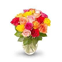 18 stem Mixed Intermediate Rose Bunch: Rose Day Gifts to USA
