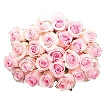 25 Long Stem Pink Roses: Bouquets for Anniversary