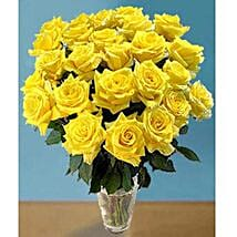 25 Long Stem Yellow Roses: Get Well Soon Flowers to USA