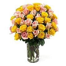50 Long Stem Assorted Roses: Send Flowers to San Diego