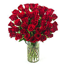 50 Long Stem Red Roses: Send Flowers to Ontario