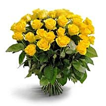 50 Long Stem Yellow Roses: Order Flowers San Diego
