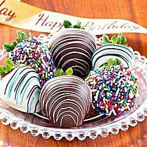 Birthday Dipped Strawberries: Chocolate Delivery in USA