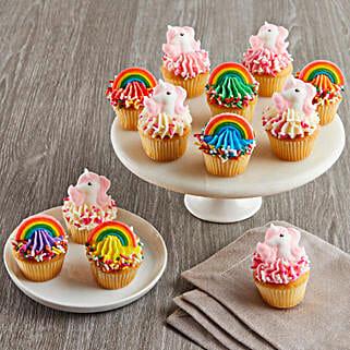 CRUMBS Mini Rainbows and Unicorns Cupcakes: Anniversary Cakes to USA