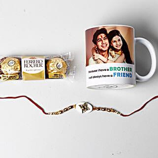 Designer Rakhi And Personalized Photo Mug: Rakhi to Sunnyvale