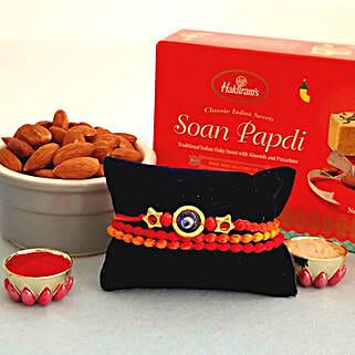 Evil Eye Remover Rakhi Combo: Rakhi With Dryfruits USA