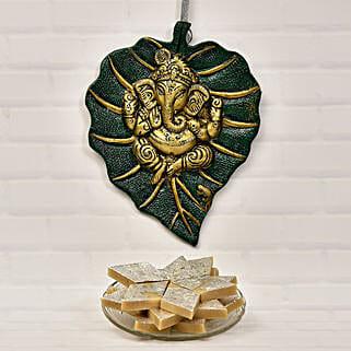 Ganesha Paan Leaf And Kaju Katli 200 gms: Sweet Delivery in USA
