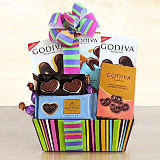 Godiva Galore Gift Basket: Women's Day Gifts to USA