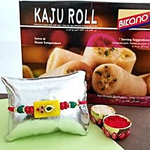 Kaju Roll And Rakhi Combo: Rakhi to Jersey