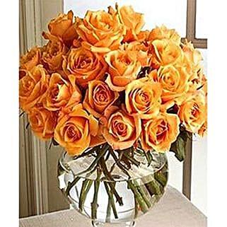 Long Stem Orange Roses: Friendship Day Flowers to USA