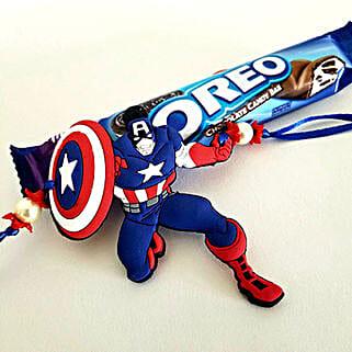 Oreo And Captain America Rakhi: Rakhi for Kids to USA