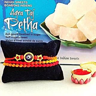 Rakhi Petha Combo: Rakhi With Sweets USA