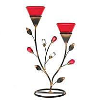 Ruby Blooms Candleholder: Valentine Gifts for Him to USA