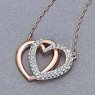 Swarovski Hearts Pendant: Valentine Gifts to Raleigh