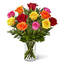 Sweetheart Mixed Rose Bouquet: Birthday Flowers in USA