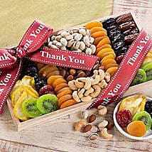 Thank You - Dried Fruit and Nut Collection: Mother's Day Gifts Hampers USA