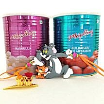 Tom And Jerry Rakhi With Sweets: Send Rakhi to Sunnyvale