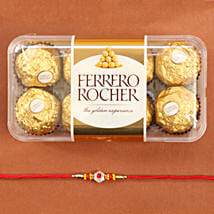 Traditional Rakhi With Ferrero Rocher: Send Rakhi to Houston