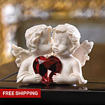 Two In Love Cherub Figurine: Valentine's Day Gift Delivery in Cincinnati