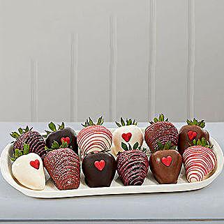 Valentines Chocolate Dipped Strawberries: Valentine's Day Chocolates to USA